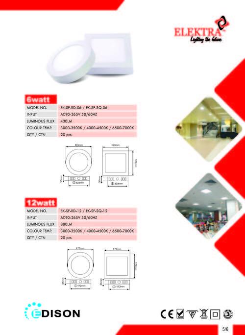LED Surface Panel Light-6w,12w
