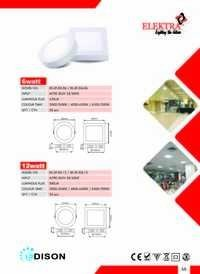 LED Surface Panel Light-6w,12w