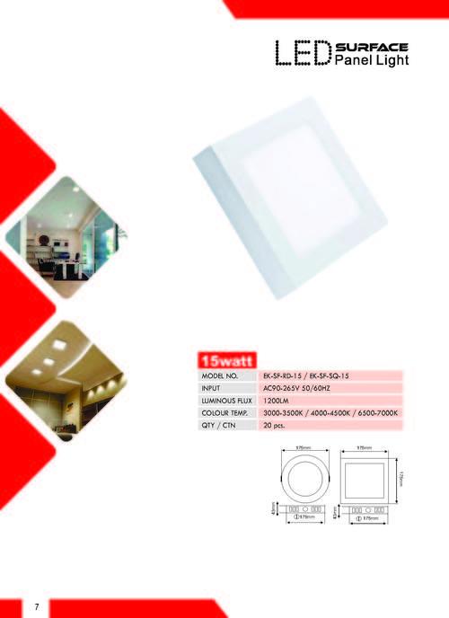 15W LED Surface Panel Light