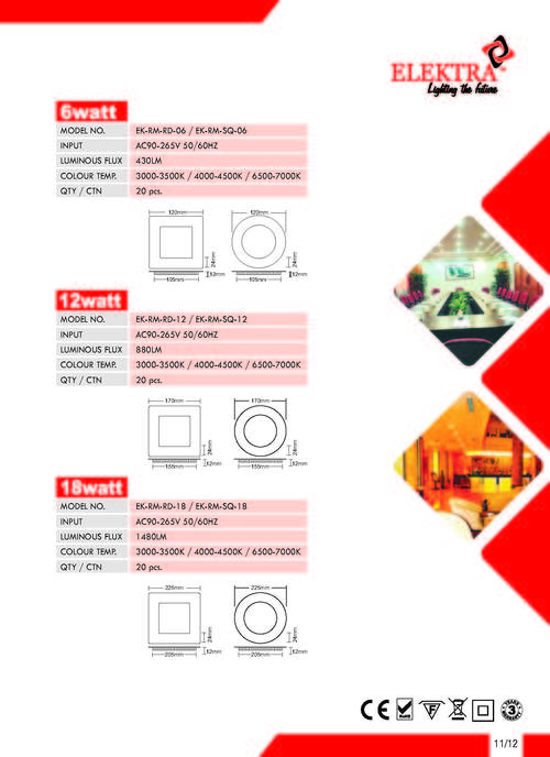 6W LED Dimmer Panel