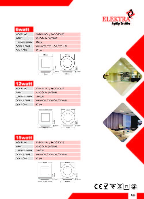 LED Panel Downlight 2Colour