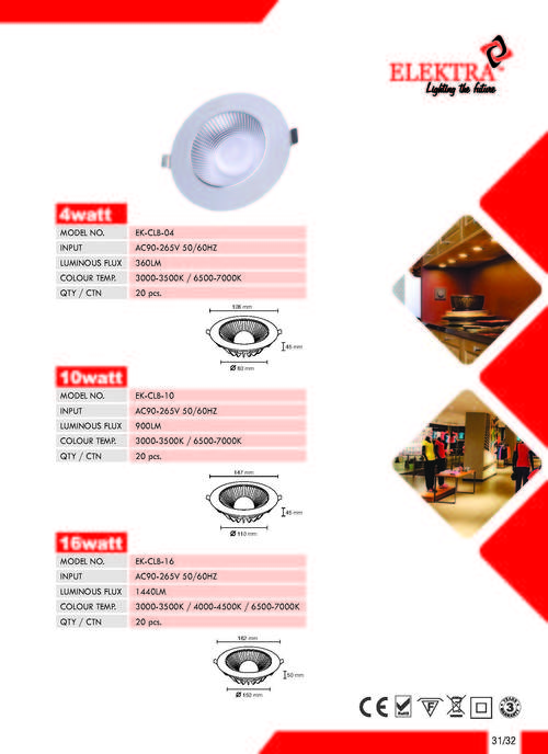 LED Ceiling Light-4W,10W,16W