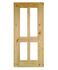 Wooden Framed Glass Door