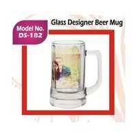 Glass Designer Beer Mug