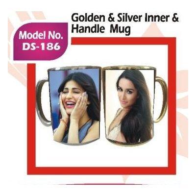 Golden & Silver Inner & Handle Mug
