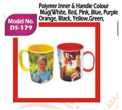 Polymer Inner & Handle Colour Mug