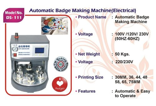 Automatic Badge Making Machine