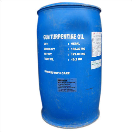 Vegetable Gum Turpentine Oil Packed in 200 LTS