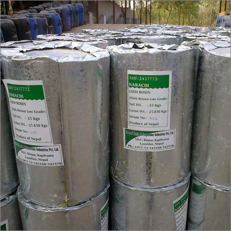 Gum Rosin grade WW packed in 25 KGS new CGI sheet drums