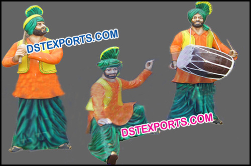Traditional Rangla Punjab Fiber Statue