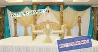 WEDDING WOODEN PILLAR STAGE