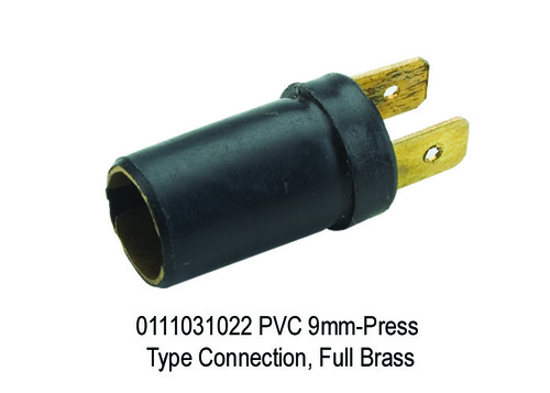 PVC 9mm-Press Type Connection, Full Brass