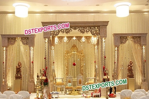 Wedding Rajasthani Wooden Carved Mandap