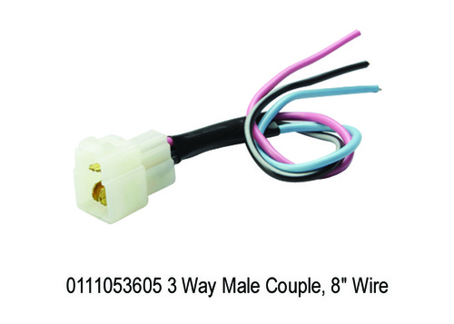3 Way Male Couple, 8 Wire