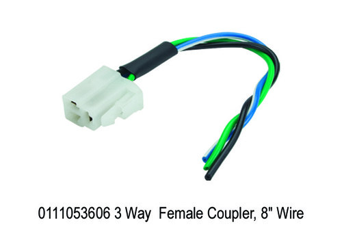 3 Way Female Coupler, 8 Wire