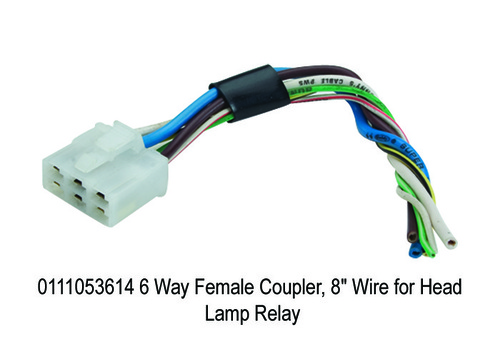 6 Way Female Coupler, 8 Wire for Head Lamp