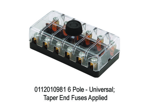 6 Pole - Universal; Taper End Fuses Applied