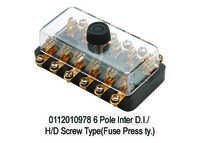 6 Pole Inter D.I. HD Screw Type(Fuse Press ty.)
