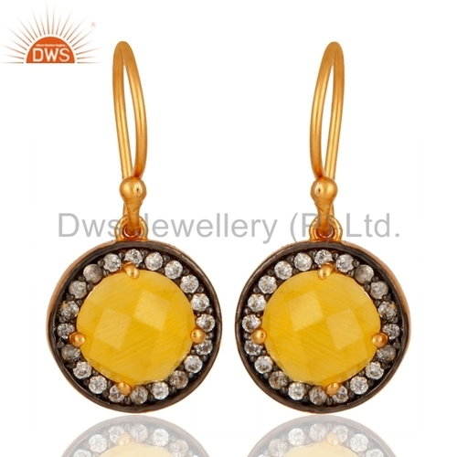 Designer Gold Plated Moonstone Earring Jewelry