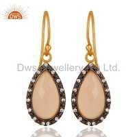 Rose Chalcedony Sterling Silver Earrings