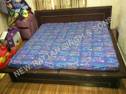 Teak Wood Double Bed