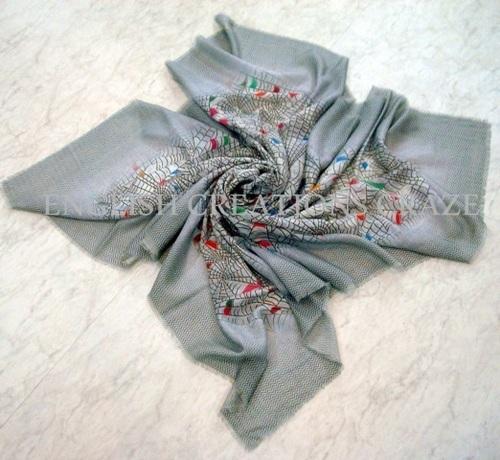 Indian Silk Wool Digital Printed Stole