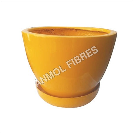 fibre flower pot with bottom tray