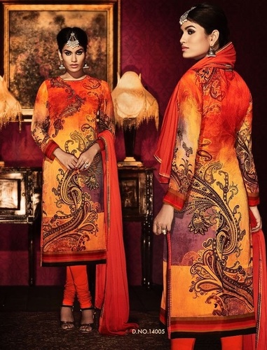 Designer salwar churidar suit salwar neck design