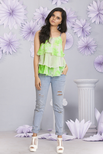 Florescent Green 3 Layer Tunic