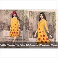 Indian yellow coloured western kurti