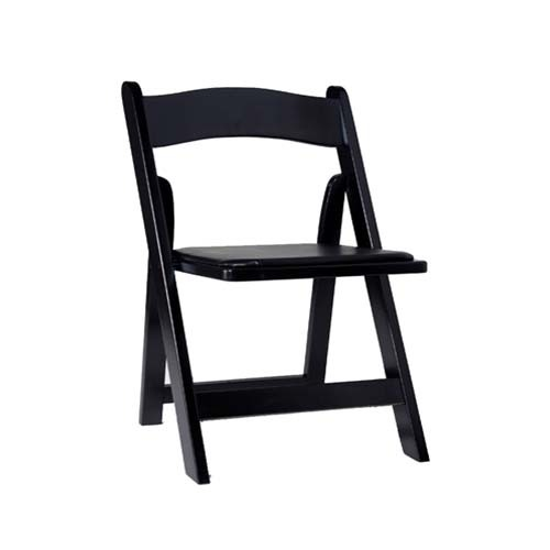 Black foldable wooden chair