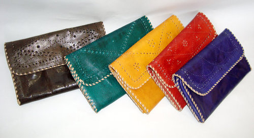 Handmade leather Clutch Bag