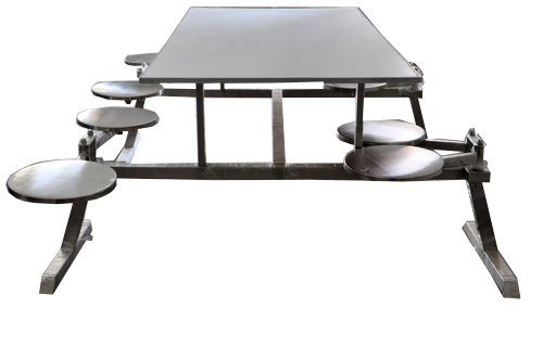CCAN Table 8 seater with moving stools