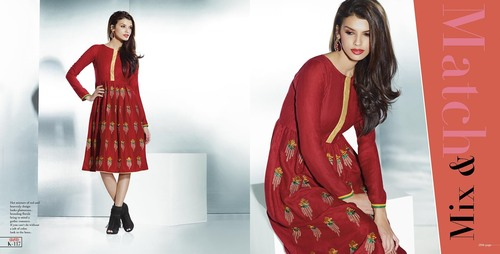 Designer red indian kurti at wholesale price