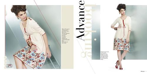White latest design indian wear kurti