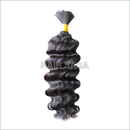 Remy Single Drawn Bulk Curly Hair