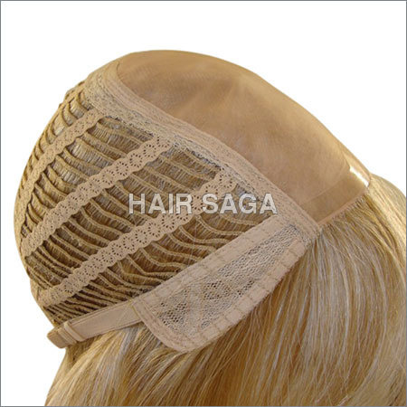 Wefted Blonde Hair Wig