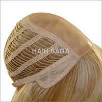 Wefted Blonde Hair Wig