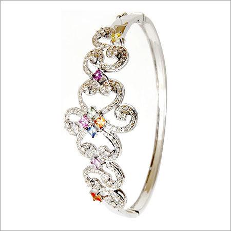 round diamond half bangle exporter
