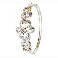 round diamond half bangle exporter