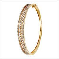 Prong Setting Diamond Half Bangle