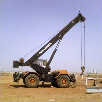 Rough Terrain Crane on Rent