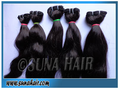 Natural black body wavy no synthetic malaysian hair ex