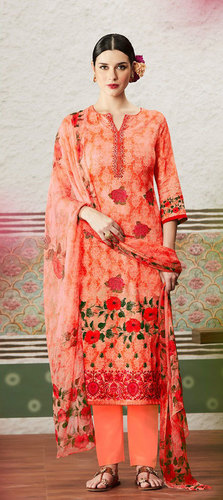Latest Designer Cotton satin drees material
