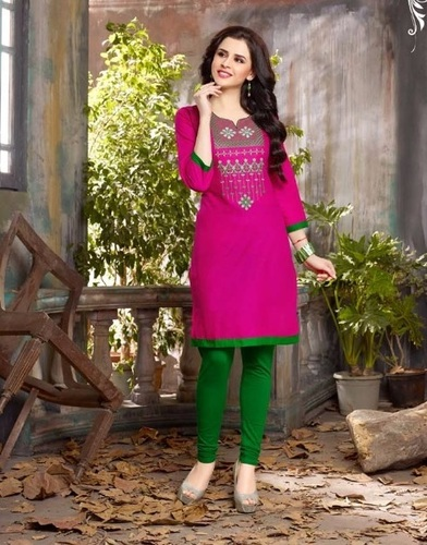 Designer Cotton Embroidery Kurti