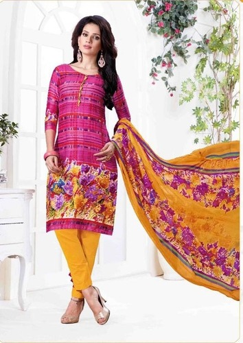 Pink Casual Wear Printed Suit