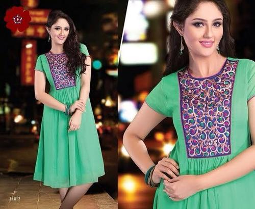 Georgette Embroidered Kurti