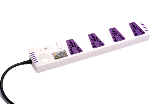 Power Strip 4 Way Single Switch
