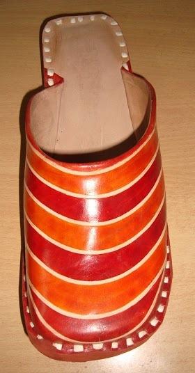 Leather Stitched half shoe