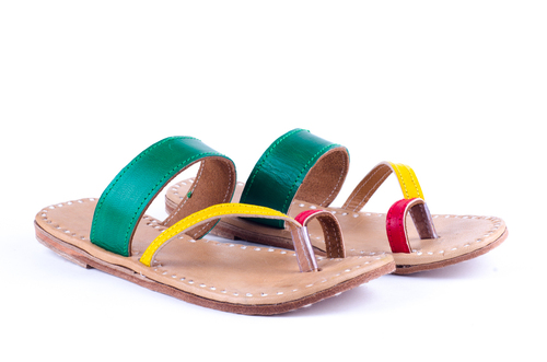 Colourful Leather Slippers